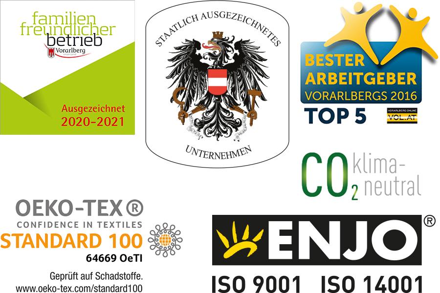 Auszeichnungen honors awards klima-neutral climate