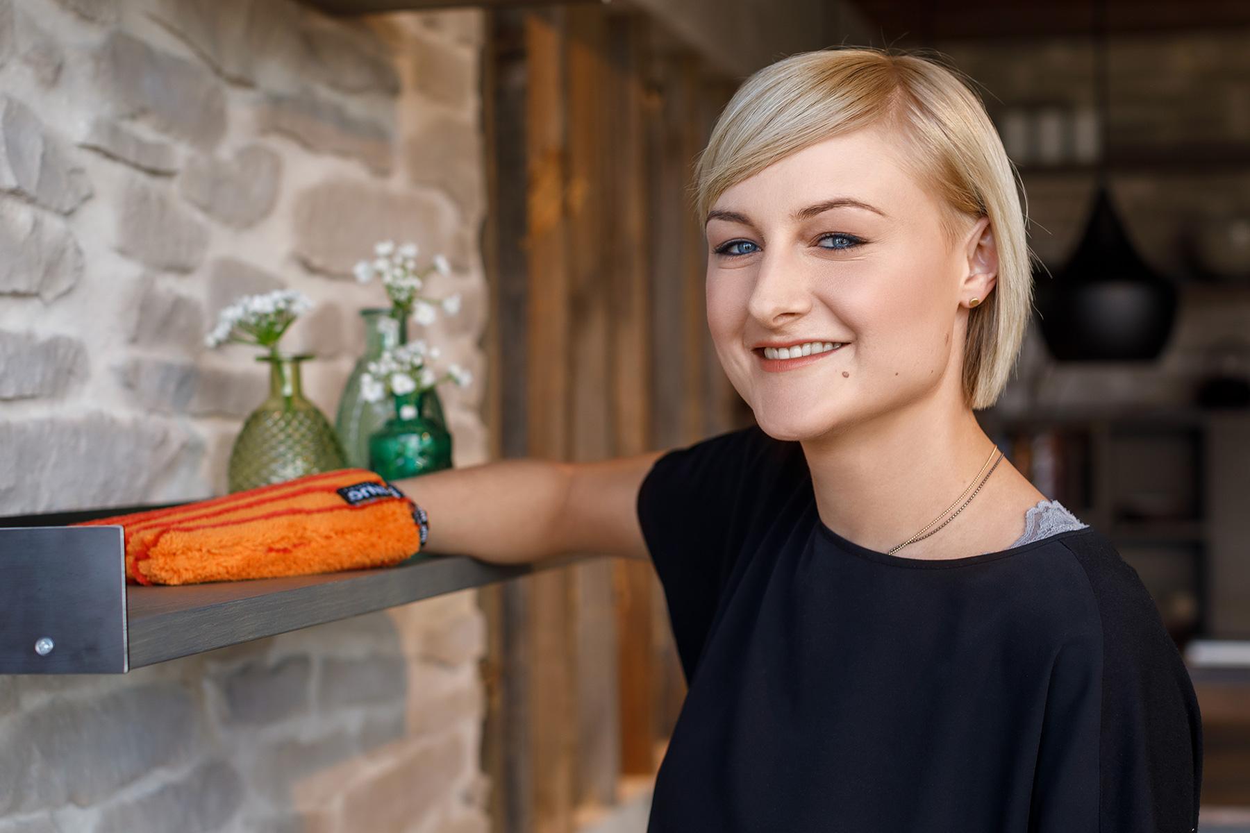 Dust glove handschuh staub frau women cleaning reinigen putzen